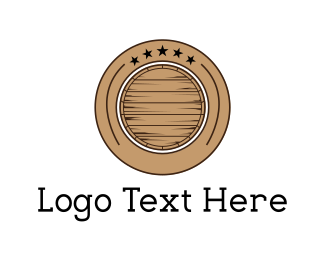 Bar - Barrel Circle logo design