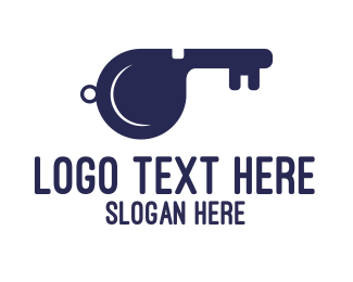 Lock - Key Whistle logo design