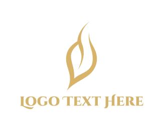 Sleek - Golden Leaf logo design