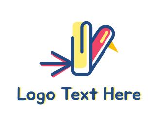 Digital Media - Office Bird logo design