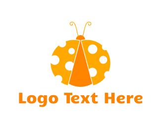 Ladybug - Cheese Bug logo design