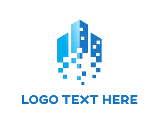 Rocket - Pixels & Buildings logo design