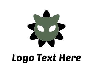 """Cat Flower"" by LogoBrand"