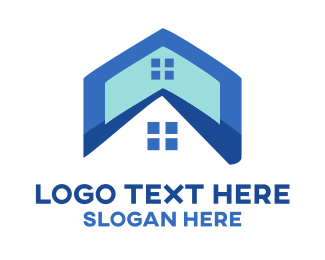 Residential Construction - Roof & Window logo design
