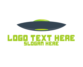 Alien - Blue & Green UFO logo design