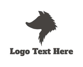 Silhouette - Wolf Silhouette logo design