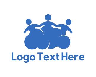 Silhouette - Social Cloud logo design