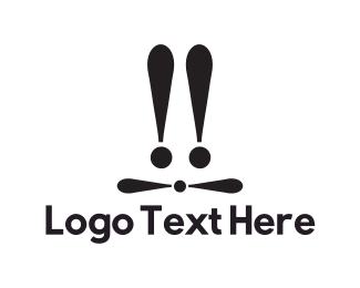 Hare - Exclamation Hare logo design