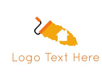 Real Estate - Home & Paint logo design