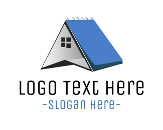 Notebook - House  Notes logo design
