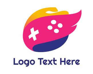 Games - Pink Wing Flame Gaming logo design