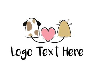 Pets Animals Pet Love logo design
