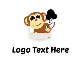 Balloon - Monkey & Balloons logo design