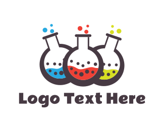 Lab - Colorful Chemistry logo design