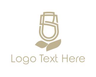 Tulip - Floral Letter S logo design