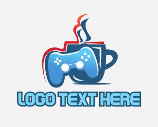 Joystick - Gaming Cafe logo design