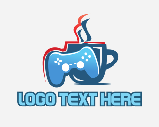 Joystick - Gaming Cafe logo design