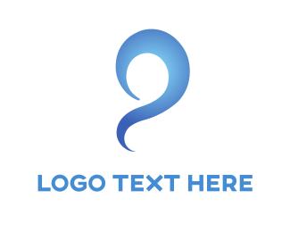 Swirly - Blue Swirl logo design
