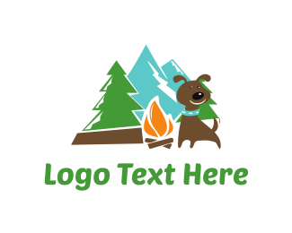 Doggy - Dog Camp logo design