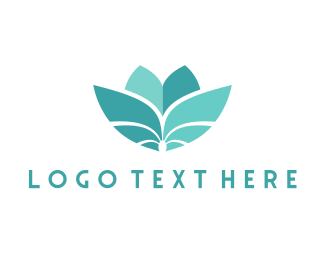 Sustainability - Teal Flower logo design