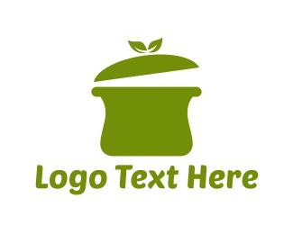 Pot - Green Pot logo design