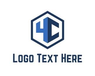 Letter C - Blue Hexagon logo design