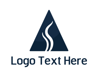Vape - Smoke Triangle logo design
