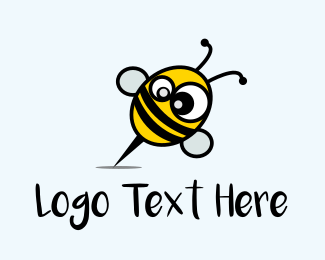 Bumblebee - Crazy Bee logo design