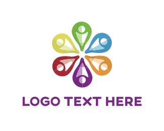 Social Network - Flower Point logo design