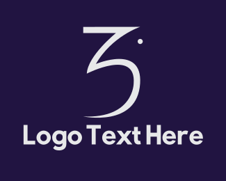 Number 3 - Pigeon Number 3 logo design
