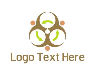 Recycling - Radioactive Recycling logo design
