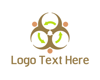 Recycling - Radioactive Recycling logo design