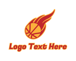 Tournament - Basketball Fire logo design