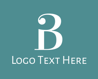 """""""Traditional Letter B"""" by BrandCrowd"""