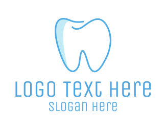Blue And White - Dental Blue Tooth logo design