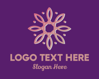Meditate - Pink Abstract Flower logo design