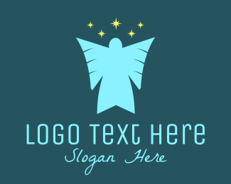 Holy - Star Angel  logo design