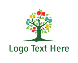 Notebook - Book Tree logo design