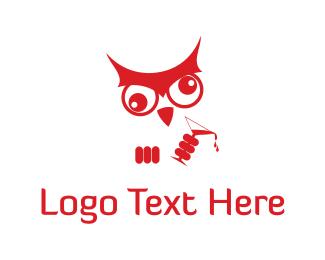 Martini - Dizzy Owl logo design