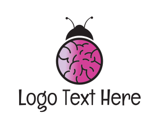 Virus - Brain Bug logo design