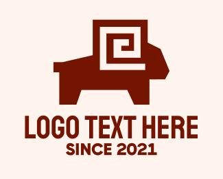 Wilderness - Maze Ram logo design