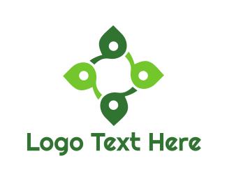 Celtic - Leaf Cross logo design