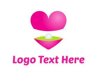 Treasure - Heart & Pearl logo design
