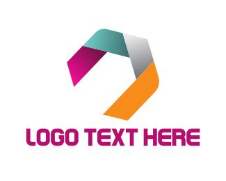 Hexagon - Hexagonal Ribbon logo design