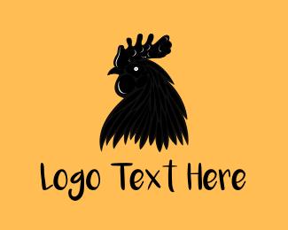 Rooster - Black Chicken logo design