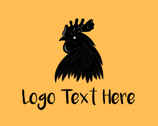 Hen - Black Chicken logo design