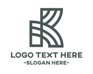 Letter K - Maze Letter K logo design