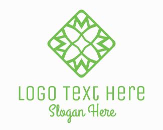 Ornamental - Flower Tile logo design
