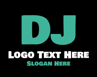 Disc Jockey - DJ Letter logo design