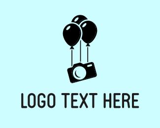 Balloon - Party Photo logo design